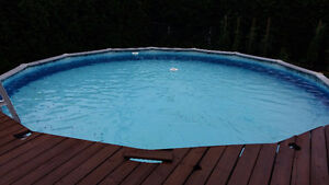 21'above ground round pool for free