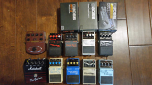 Various Pedals for Sale / Trade (8 Boss Pedals, plus others)