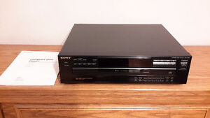 SONY COMPACT 5 DISC PLAYER with MANUAL