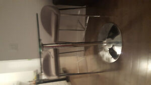 Designer glass top dinette and two chairs