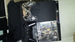 PS3, 2 CONTROLLERS AND INFAMOUS GAME-!! $80.00