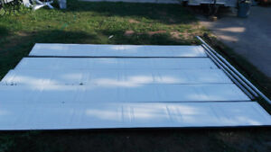 White Garage Door 8 ft by 12 ft Insulated