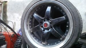 "3  rims 17"", 4 bolt universal, 205/40 zr17 with tires"