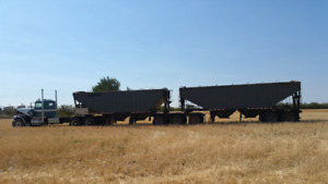 2008 Doepker Super B grain trailers.