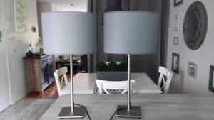 2 lampes de table ajustables