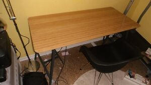 Ikea HILVER / LERBERG Table and Chapters Paris Armchair