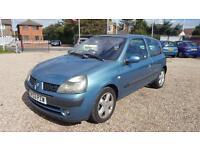 2003 Renault Clio 1.2 16v ( a/c ) Dynamique Long MOT 70000 Miles Bargain