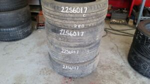 Set of 4 Kumho Solus KL21 225/60R17 tires (60% tread life)