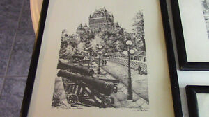 Black and White Framed Sketches - Montreal and Quebec Kitchener / Waterloo Kitchener Area image 2