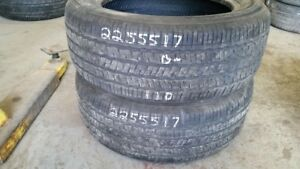 Pair of 2 Hankook Kinergy GT 225/55R17 tires (40% tread life)