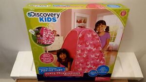 DISCOVERY KIDS BUTTERFLY DREAMS POP UP TENT brand new
