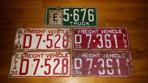 Looking for old Alberta License Plates