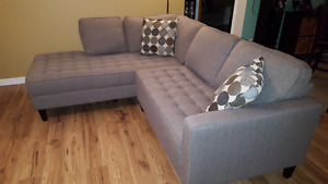 Sectional with warranty