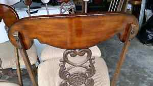 Cast iron/wood chairs French Parisienne style  Kitchener / Waterloo Kitchener Area image 2