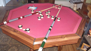 Bumper pool/ poker/ dining or card table