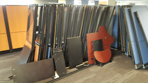Office furniture: cubicles and desks