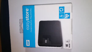 WD Easystore Portable Backup Plug and Play 4 TB HD