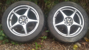 4x114 Enkei 17x7 PAIR for 240sx