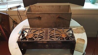 Antique 1920 Camp Stove Evinrude Outboard Motor Co  Milwaukee Wisconsin