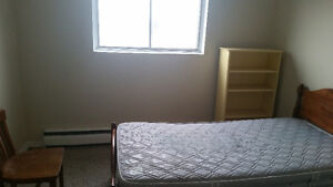 Furnished bedroom in a two bedroom apartment