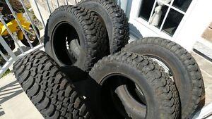 Five (5) BFGoodrich Mud-Terrain T/A tires (255/75/R17)