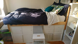 Moving Sale - Lofted double Bed, couch, desk, coffee table, etc