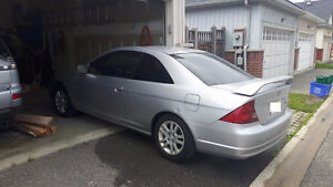 2001 Honda Civic Coupe SI-G - 5 speed manual - power roof