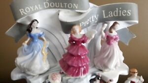 Royal Doulton, Pretty Ladies miniature collection and display