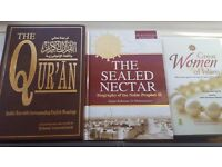 The quran + the sealed nectar + great women of islam