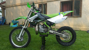 Kawasaki KX 85 with BIG wheel kit