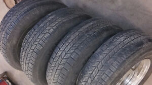SET OF 4 HANKOOK MILEAGE PLUS 2 - P215/70/R15
