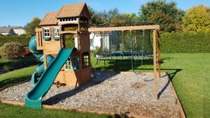 Playset Cedar Summit Valleyview Deluxe Wooden Play Set
