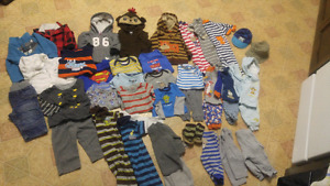 Boys 3-6mth clothes $25 for the whole box full.