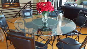 Wrought Iron Table, Lights Set Including....