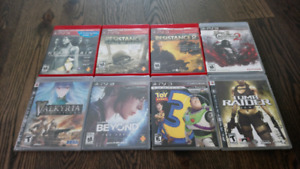 PS3 Games Lot Toy Story, Grand Theft, Castlevania, Tomb Raider
