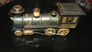 Tin Litho Western Train Engine London Ontario image 1