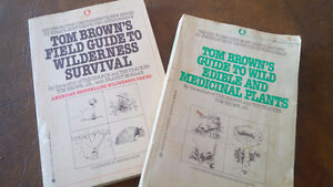 2 Books, Tom Brown's Field Guide To Wilderness Survival and