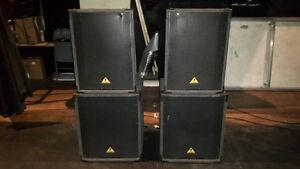 Set of PA loud speakers, 2 sub woofers, 2 full range - $600