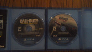 2 ps4 games call of duty & nfs rivals 50$