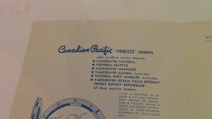 Canadian Pacific Princess Steamers Luncheon Menu Kitchener / Waterloo Kitchener Area image 2
