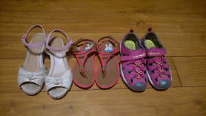 3 Pairs of Summer Shoes/Sandals for Girls