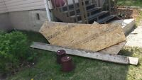 Free Plywood, boards, planter  pots