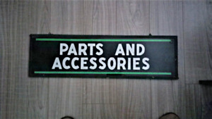 Automotive Parts and Accessories Sign