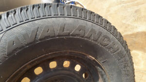 Set of 4 winter tires and rims from Ford Ranger.