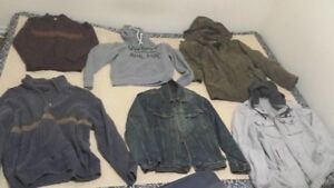 Moving sale:Mens. Womens winter jackets, Nike baby romper