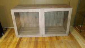 IKEA LARGE DISPLAY CABINETS X2 QUALITY!!