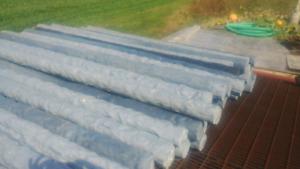 Recycled plastic fence posts