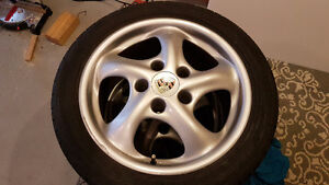 Porsche twist wheels with 5x100 adapters Kitchener / Waterloo Kitchener Area image 4