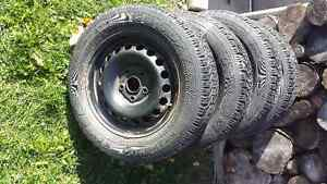 Goodyear nordic p195/65/r15 winters on VW rims