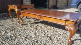 Coffe tables, Two Beautiful Mahogany vintage tables